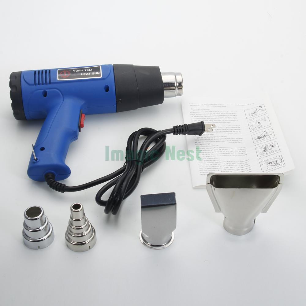 Electrical Hot Air Blower : W heat gun hot air wind blower dual temperature