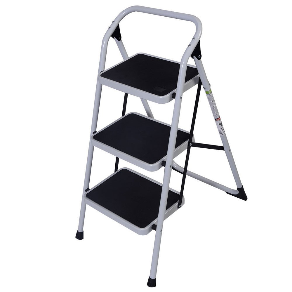 Prime Details About New Non Slip 3 Level Step Stool Folding Ladder Safety Tread Kitchen Home Use Machost Co Dining Chair Design Ideas Machostcouk
