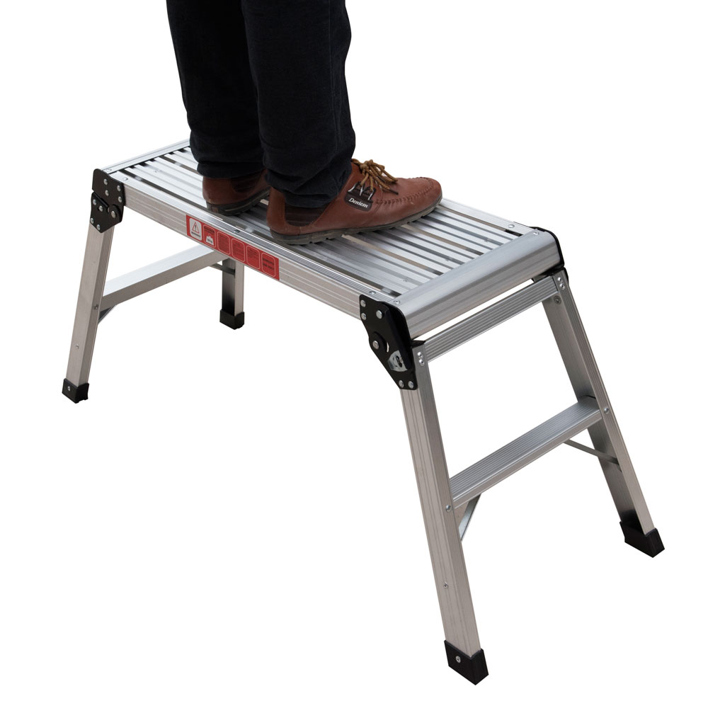New 350lbs Step Stool Amp Working Platform Drywall Step Up