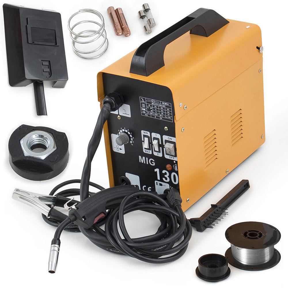 120AMP MIG130 110V Flux Core Auto Feed Welding Machine Welder W ...