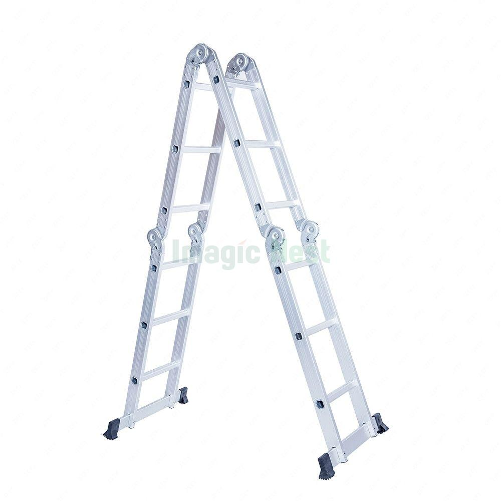6ft Multi Purpose Step Ladders : Ft multi purpose aluminum folding step ladder scaffold