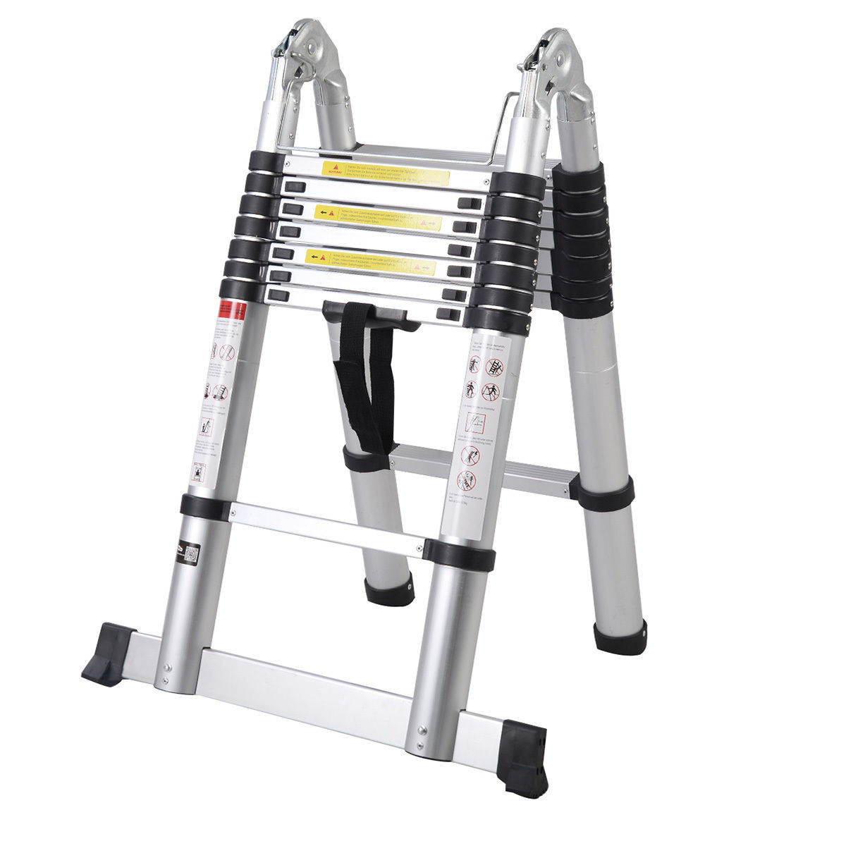 Aluminum Telescopic Ladder : Ft aluminum multi purpose telescopic ladder extension