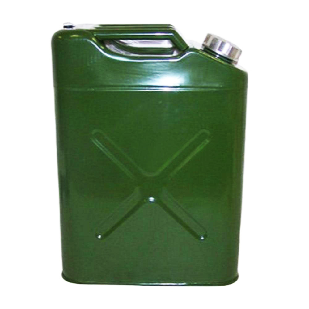 eu 20l liter 5 gallon jerry steel tank fuel can gas fuel tank gasoline green ebay. Black Bedroom Furniture Sets. Home Design Ideas