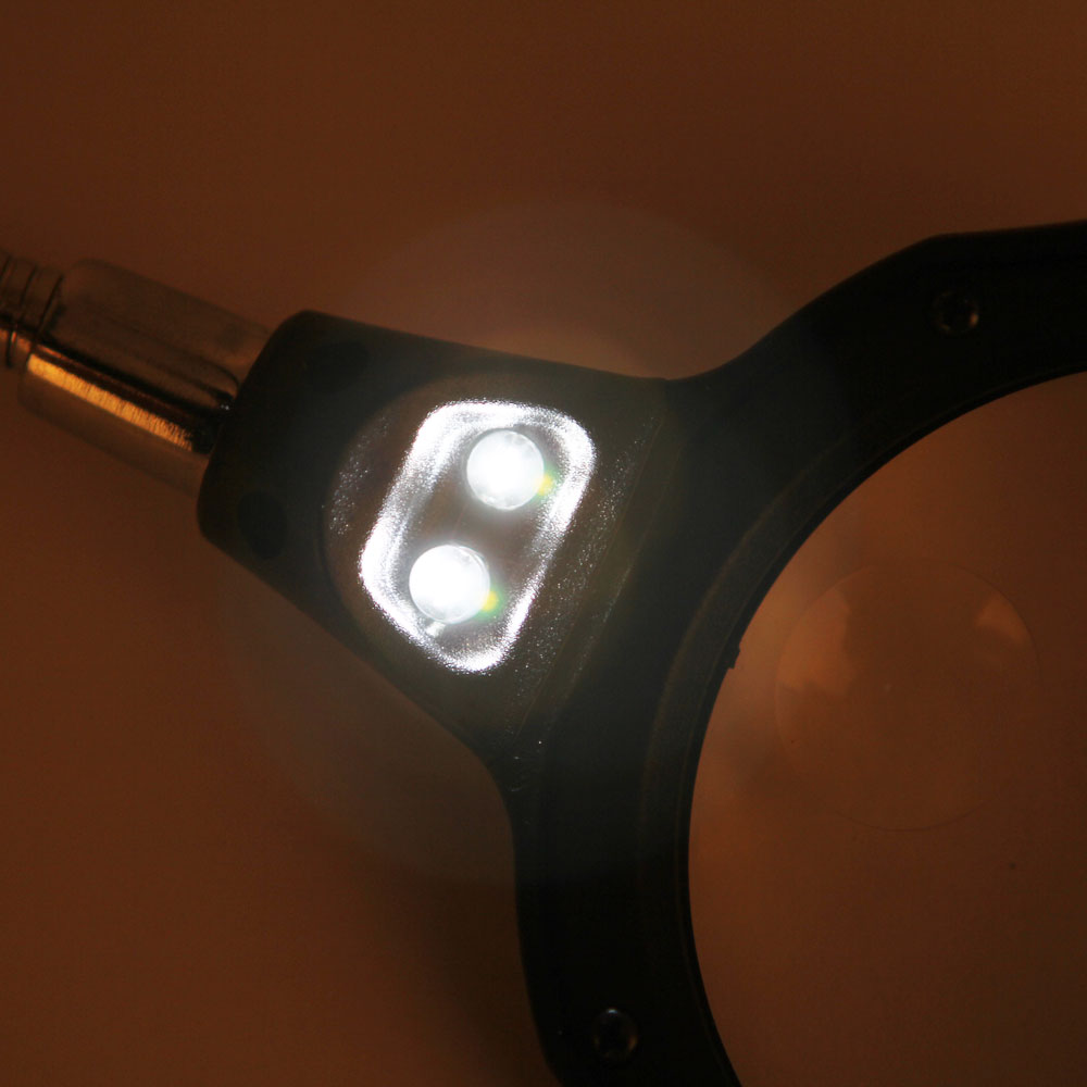 3 5x 12x Led Clip Desktop Table Lamp Magnifier Magnifying