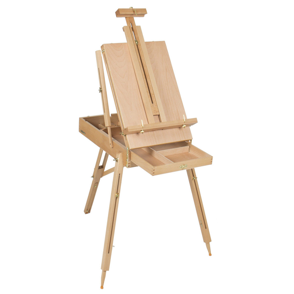 French Easel Wooden Sketch Box Portable Folding Durable