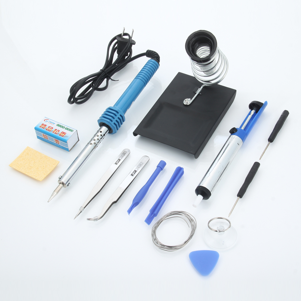 hot 14in1 60w 110v electric soldering iron tools kit stand