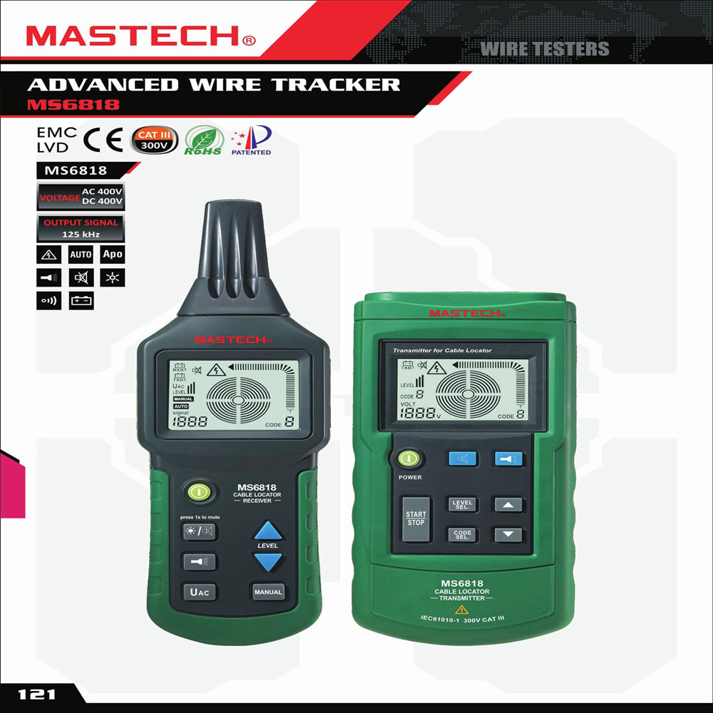 Cable Line Locator : Mastech ms underground cable line metal pipe locator