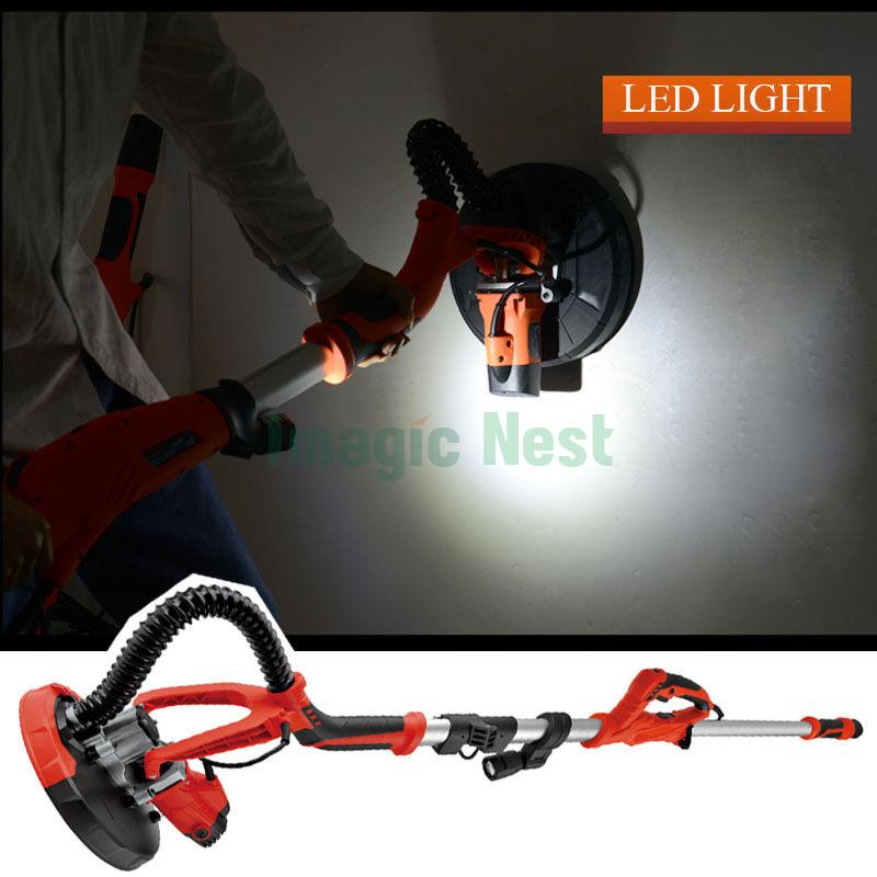 Wall Light Electric Kit : 750W Drywall Sander Electric Sanding Tool Dry Wall Carrying Case Kit +Led Light