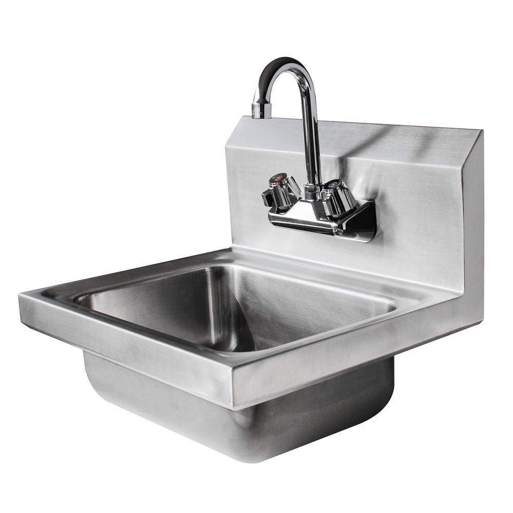 17 Quot Commercial Wall Mount Kitchen Hand Wash Sink Stainless