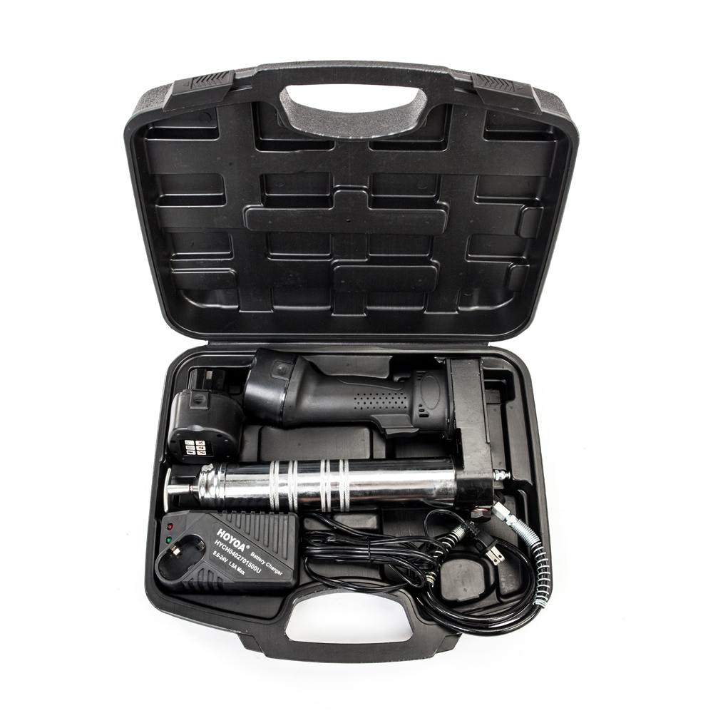 Portable Cordless Rechargeable Grease Gun + 2 X 12V