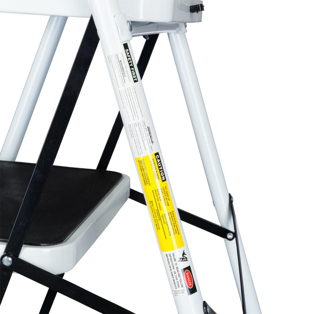 4 Step Ladder Folding Steel Work Platform Stool Heavy Duty