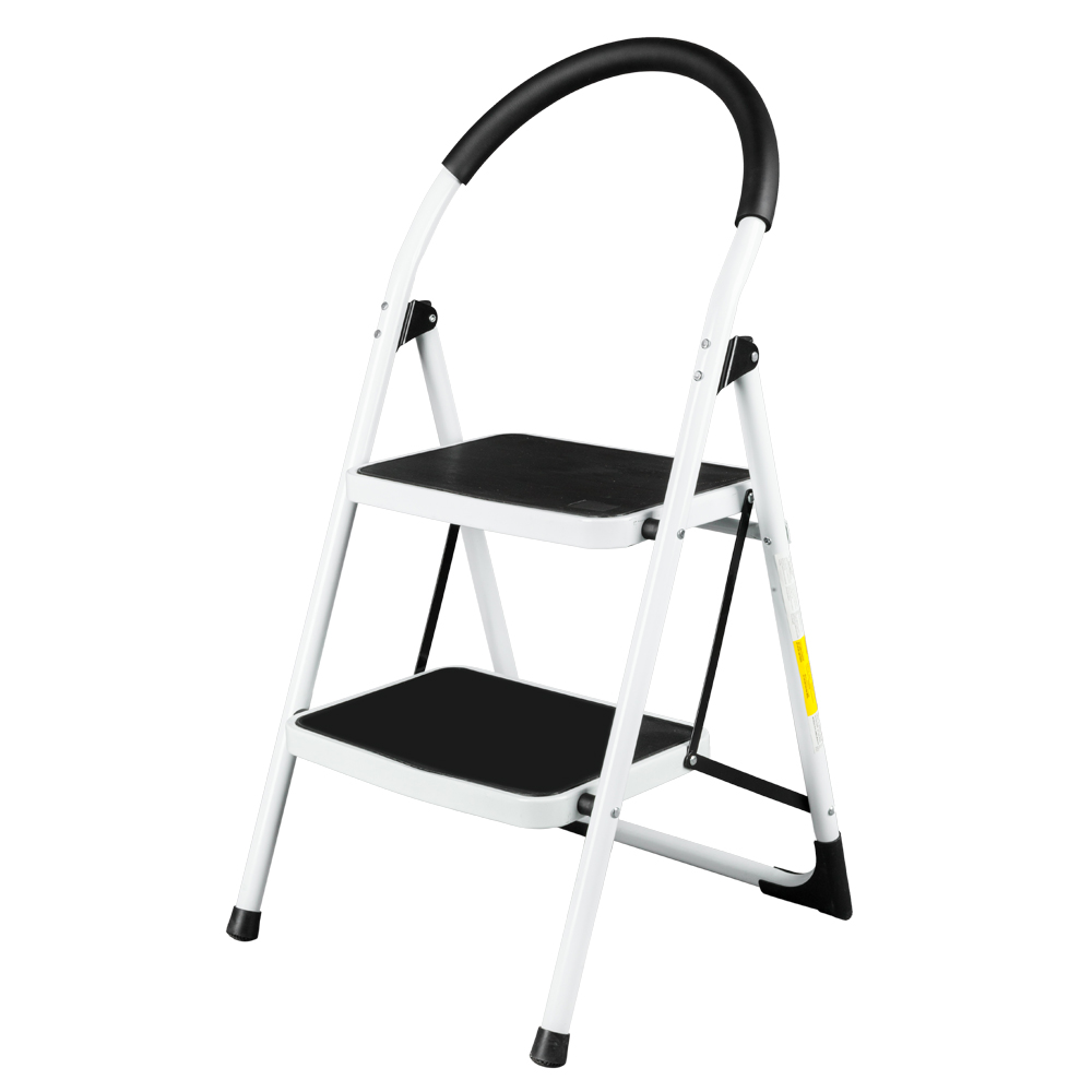 Non Slip 2 Step Ladder Folding Steel Step Stool Heavy Duty