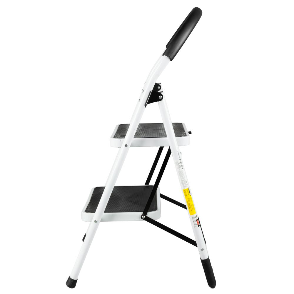 Non Slip 2 Step Ladder Folding Steel Step Stool Heavy Duty