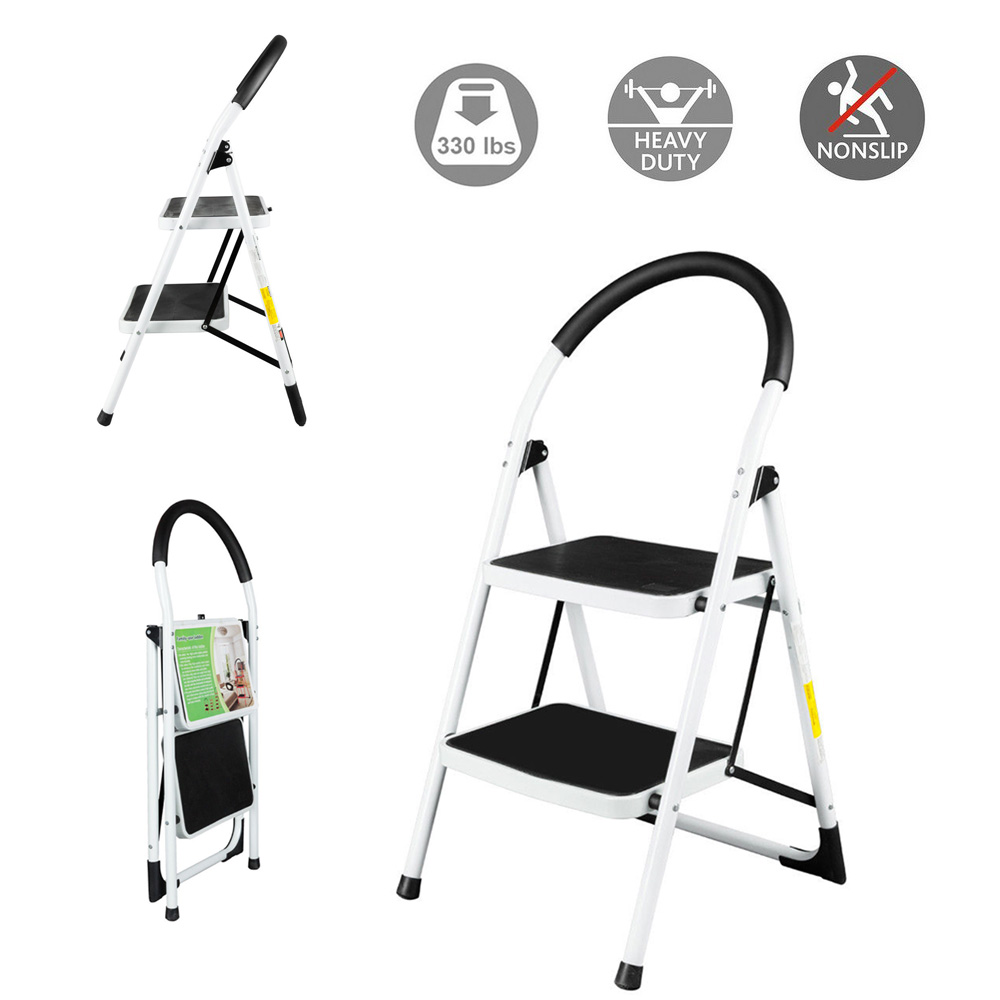 Swell Details About Non Slip 2 Step Ladder Folding Steel Step Stool Heavy Duty With 330Lbs Capacity Pabps2019 Chair Design Images Pabps2019Com