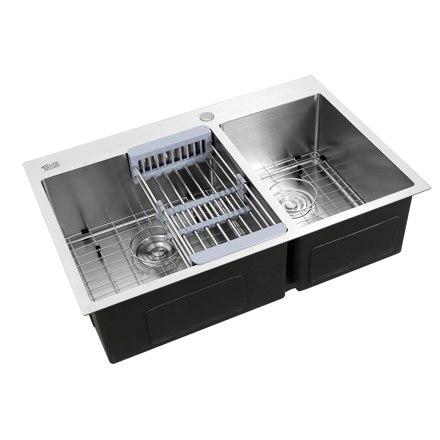 """33"""" X 22"""" X 9"""" Dual Basin Stainless Steel Top Mount"""