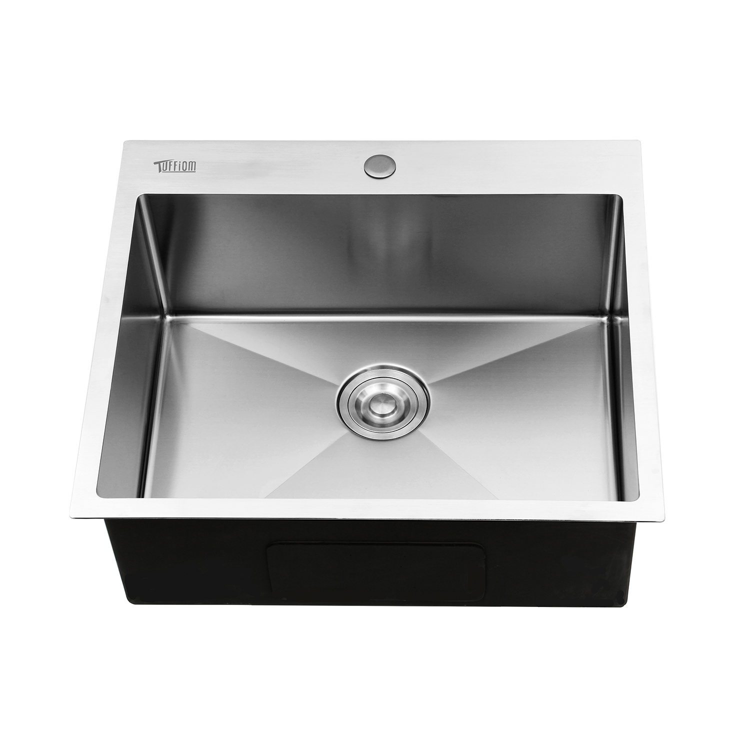 """25"""" X 22"""" X 9"""" Single Basin Stainless Steel Top Mount"""
