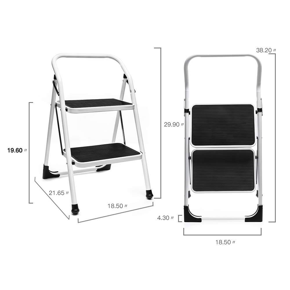 Magnificent Details About 2 Step Ladder Portable Folding Step Stool With Handgrip Anti Slip 330Lbs Load Creativecarmelina Interior Chair Design Creativecarmelinacom