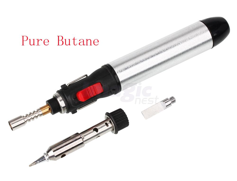 compact refillable pen shaped butane gas electric soldering iron with tool tips ebay. Black Bedroom Furniture Sets. Home Design Ideas